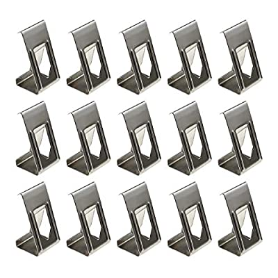 3D Printing Heated Bed Glass Platform Stay Clips Holder Picture Photo Frame Metal Silver Spring Turn Clamps 100Pcs