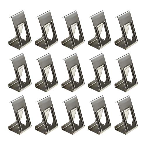 50Pcs 3D Printer Hot Bed Glass Platform Securing Clips Holder Photography Picture Frame Metal Spring Turn Clamps Silver Tone
