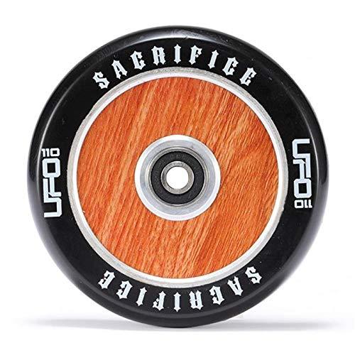 Sacrifice UFO HollowTech - Rueda para patinete (110 mm, grano de madera)