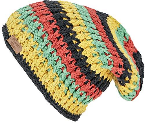 GURU SHOP Beanie, Baumwoll Mütze, Nepalmütze - Rasta, Herren/Damen, Mehrfarbig, Baumwolle, Size:One Size, Mützen Alternative Bekleidung