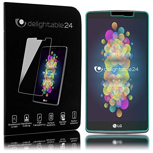 NALIA Schutzglas kompatibel mit LG G4 Stylus, Full-Cover Bildschirmschutz Handy-Folie, 9H Glas-Schutzfolie Display-Abdeckung, Schutz-Film Smart-Phone HD Screen Protector Tempered Glass - Transparent