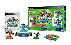 Starter Pack includes: 1-Video Game, 1-Portal of Power, 3-Skylanders Figures, 1-Character Collector Poster, 3-Sticker Sheets with Secret Codes and 3-Trading Cards Warning: Choking Hazard - Small parts. Not for children under 3 yrs.