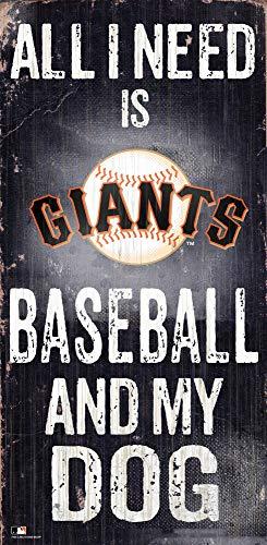 MLB San Francisco Giants Unisex San Francisco Giants Baseball and My Dog Sign, Team Color, 6 x 12