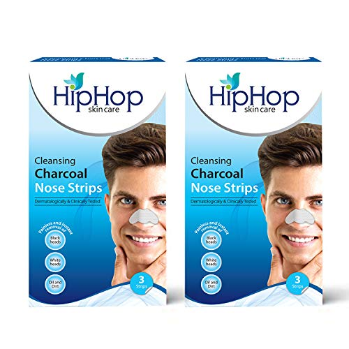 HipHop Skincare Charcoal Nose Strips Men Blackhead Remover (Pack of 2)