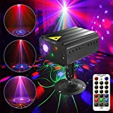Ezire LED Disco DJ Laser Party Lights Projector Red Green Blue Laser with 36 Patterns Stage Light Mini LED Strobe Sound Activated Lights for Family Party DJ Disco Music Show Bar Holiday