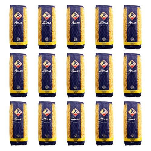 15er Pack Riesa Nudel Fitmacher Spiralen (15 x 500 g) Teigwaren, Spirelli, Riesa Nudeln, Pasta