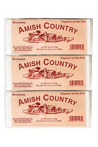 Amish Country Popcorn | Old Fashioned Microwave Popcorn | Old Fashioned with Recipe Guide (Red Corn...