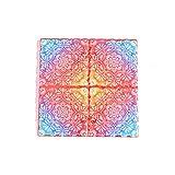 Tovagliette,Sottobicchiere in ceramica con motivo a mandala, cuscinetto isolante termico in sughero a croce quadrata 8 pezzi-colore 15