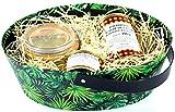 panier garni de produits régionaux dont 1 foie gras entier - présentation corbeille en carton