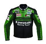 Chaqueta oficial de cuero para motocicleta Kawasaki, hombre mujer, Chaqueta, M (EU50)
