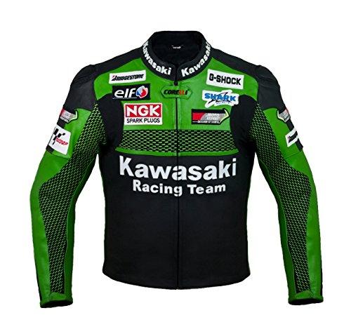 Kawasaki Racing Team Leather Motorcycle Jacket (L (EU52-54))