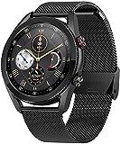 Gymqian Smart Watch Men L19 Bluetooth Smartwatch Diy Dials Super Long Battery Life Smart Clock para Android Ios Pk L13 Dt95 Gt2, B Desgaste diario/B