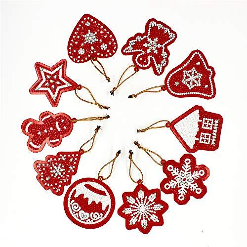 Kerstmis Gift tag Kaart 10 DIY Hangers met Diamanten Tas Handgemaakte Hars Boor Diamant Schilderij Hanger Gratis Gesneden Lengte Geschikt voor Kinderen Volwassenen en Senioren
