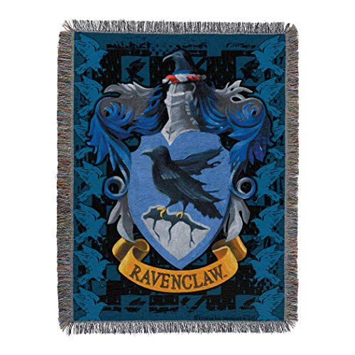 The Northwest Company Harry Potter - Manta de Tela para Tapiz (48 x 60 cm), Tapicería Tejida, Raven Claw's Crest, 10.16 cm x 12.7 cm, 1