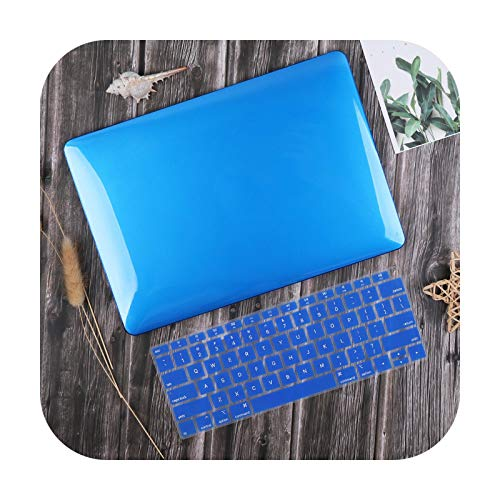 For MacBook Air 13 inch Case 2020 M1 A2337 A2179 Crystal Smooth Plastic Hard Cover for Mac book Pro 13-inch A2338 A2251 A2289-Dark Blue-2019 Air 13 A1932