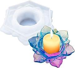 Umisu Lotus Candles Holders Resin Molds Flower Shape Candlestick Storage Box Silicone Molds for Epoxy Casting DIY Craft Ma...