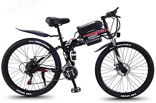Bicicletas Eléctricas, Bicicleta plegable eléctrica de montaña, Bicicletas 350W nieve, extraíble 36V...