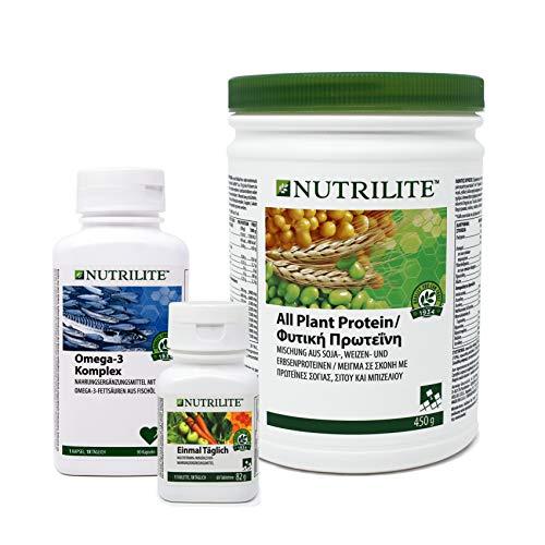 Grundlagen Trio mit NUTRILITE™ Einmal Täglich - 1 x Omega-3 Komplex + 1 x All Plant Protein + 1 x Einmal Täglich 60 - Amway - (Art.-Nr.: 280937)