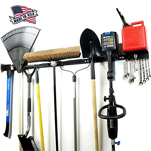 "Koova Modular Garden and Garage Tool Organizer Kit, Wall Mount - 64"" Garage Organizer and Shed Tool Storage Rack - Heavy..."