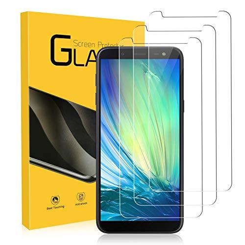 Zozgetu Protector Pantalla para Samsung Galaxy J6 2018,Cristal Templado para Samsung Galaxy J6 2018,3 Piezas,Toque 3D,HD,Dureza 9H,Anti-Arañazos,Sin Burbujas Vidrio Templado película Protectora
