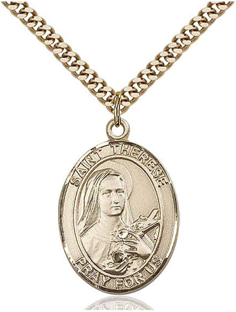 online shopping DiamondJewelryNY 14Kt Gold Filled St. Lisieux Therese Max 40% OFF of Pendant