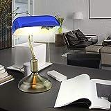 Retro Tisch Lampen Arbeits Zimmer Banker Glas Lese Leuchten Antik gelb blau grün, Auswahl:Design 2