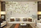 Küche Haushalt Wohnen Vögel Blumen Magnolie Vögel Tinte Landschaft Tv Sofa Wand Dekorative 3D Tapete-250 * 175cm
