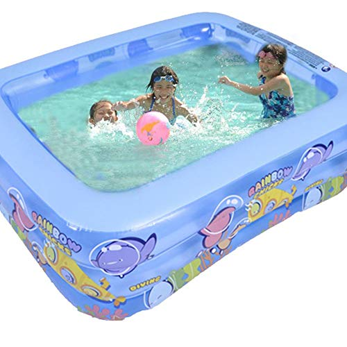 paddling pools SMASAMDE Three Layer Inflatable Swimming Pool Heightened Paddling Pool Thickened Abrasion Resistant Family Inflatable Pool for Kids Babies Adults 70.9 in