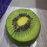 YZY Silla Nuevo cojín del sofá Almohada Cojines de Frutas 3D cojín de la Silla de Oficina Volver cojín del sofá Almohadilla de Tiro del Home Almohada Decorativa (Color : Kiwi)