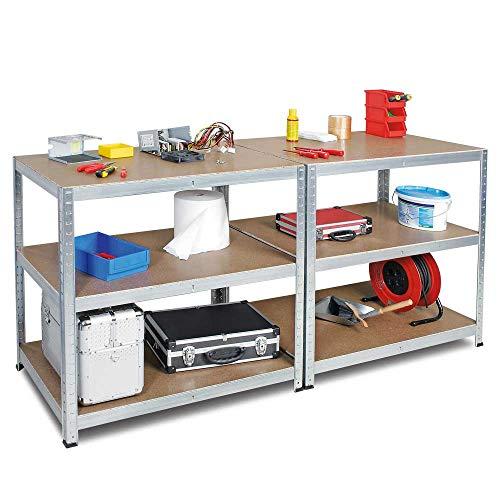 BRB Arbeitstisch/Packtisch, glanzverzinkt, HxBxT 900 x 1800 x 600 mm