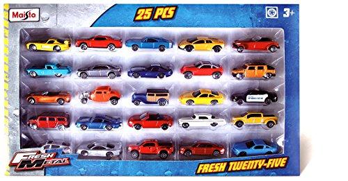 Maisto 12005 - Set de petites voitures - en métal - 25 unités - 7,5 cm