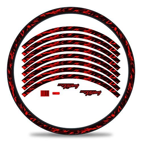 Finest Folia 16-teiliges Set Felgenrandaufkleber Sticker für Fahrrad Felgen im Future Design Komplett Set für 27