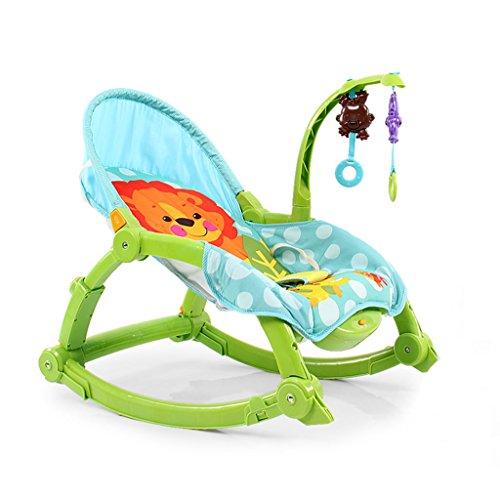 Enfant Rocker Toddler Rocker Bébé Rocker Jouet Infant Rocker Rocking Chair Fer Pour 1-2 Ans Vieux Éducation Bébé Jouet -LI JING SHOP (Couleur : Green)