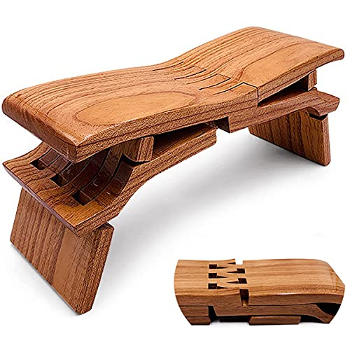Folding Meditation Bench, Retro Folding Step Stool for Adults Chair Outdoor Luban Bench, Yoga Bench Workout Multifunctional Kneeling Stool Creative Elm Small Wood Stool
