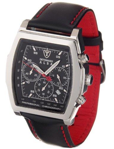 Detomaso Classic Herren-Armbanduhr Alba Chronograph Silber/Schwarz