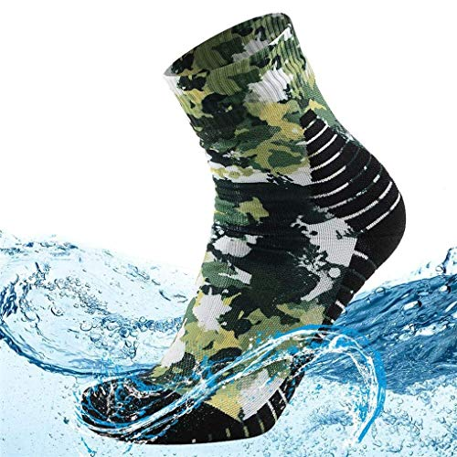 MEIKAN 100% Waterproof Hiking Socks Men Women Breathable and Windproof Athletic Climbing Trekking Wading Socks for Hiker Winter Sports Snow Skiing Socks 1 Pair (Multicolor, Large)
