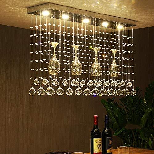 AI LI WEI mooie lampen/kristallen kroonluchter, modern creatief bar/restaurant/eettafel LED wijnglas kristallen kroonluchter