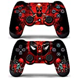Vanknight Playstation 4 Dualshock PS4 Controller Skin Vinyl Decals Skins Stickers 2 Pack for PS4 Controller Skins PS4 Skins Deadpool