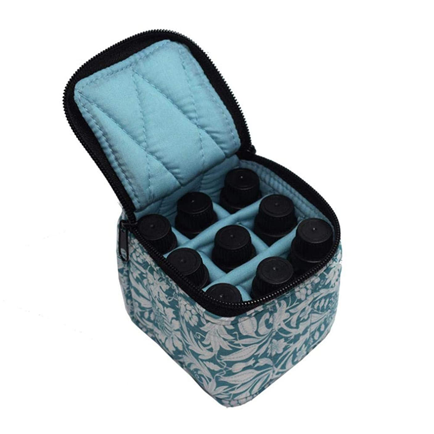 醸造所成り立つハングPursue エッセンシャルオイル収納ケース アロマオイル収納ボックス アロマポーチ収納ケース 耐震 携帯便利 香水収納ポーチ 化粧ポーチ 9本用