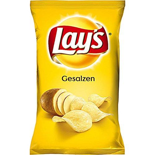 20 kleine Tüten Lays Chips gesalzen a 35g Orginal