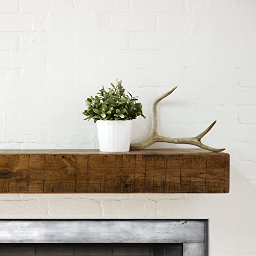 dark wood fireplace mantel - 6