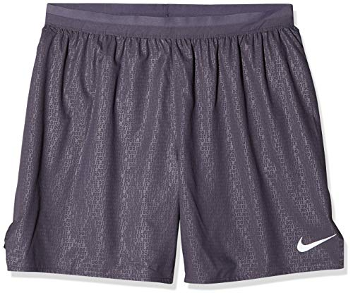 Nike heren Distance 7 inch EMB Shorts, Gridiron/Reflective Silver, XL