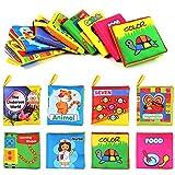 8 Stück Stoffbuch für Babys Bilderbuch Fühlbuch Baby Soft Babybuch stoff Tuchbuch Badebuch für Kinder Pädagogisches Babyspielzeug für Jungen Mädchen Babyparty