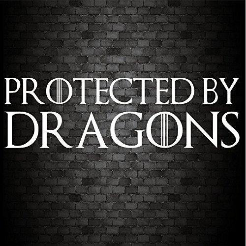 Protégé par dragons Funny voiture pare-chocs de Game of Thrones JDM Sticker vinyle