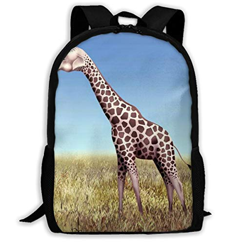 Funny Giraffe Elephant Head Backpack School Bag, 3d Print Lightweight Bookbag Travel Daypack For Boys & Girls