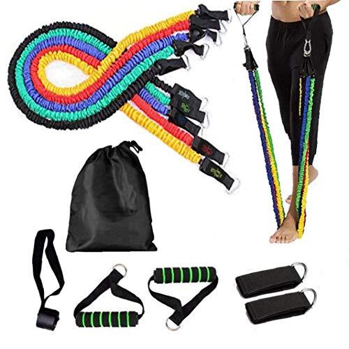 Gamloious Fitness bandas elásticas de resistencia para ejercicios de yoga, de goma, para puerta, gimnasio, entrenamiento de fuerza, equipo de entrenamiento
