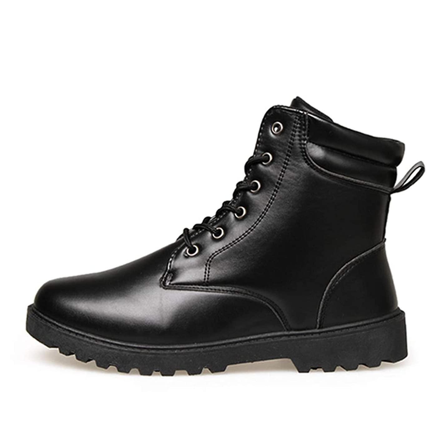 ショット音楽バルーンマーティンブーツ ショートブーツ メンズ 黒 白 ハイカット レースアップ 防水 滑り止め 衝撃吸収 ブラック ホワイト ブラウン ラウンドトゥ ワークブーツ 編み上げ アウトドア カジュアル メンズ靴