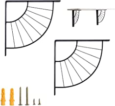 GAXQFEI Heavy Duty metalen decoratieve frame plankbeugel, muur opknoping decoratie sector beugel moderne ijzeren kunst sta...