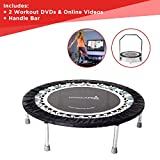 Maximus Pro Gym Rebounder Mini Trampoline with Handle bar. Includes 2...