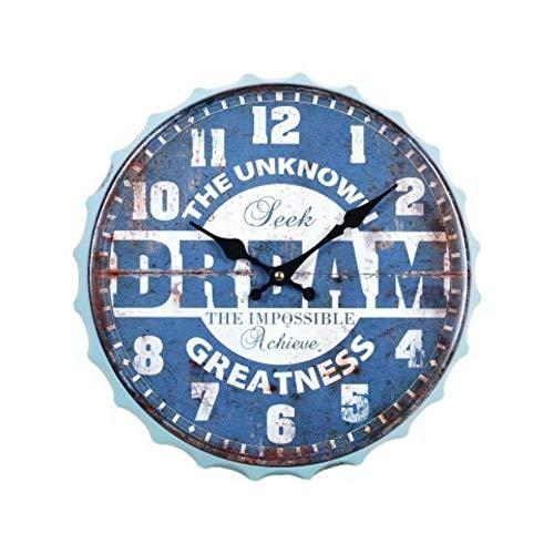 CAPRILO. Reloj de Pared Decorativo de Madera Chapa-Drem.Adornos. Decoración Hogar. Menaje Cocina. Regalos Originales. 33 x 33 x 3.5 cm.